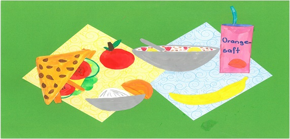 Gesunde und wirtschaftliche wöchentliche Ernährung